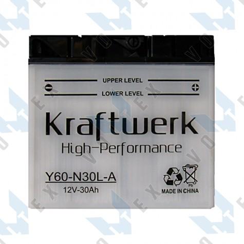 Мото аккумулятор Kraftwerk Y60-N30L-A 30Ah