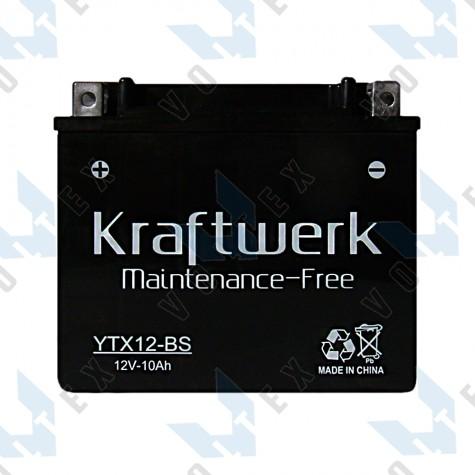 Мото аккумулятор Kraftwerk YTX12-BS 10Ah