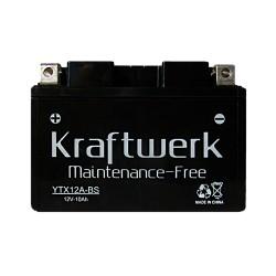 Мото аккумулятор Kraftwerk YTX12A-BS 10Ah