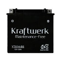 Мото аккумулятор Kraftwerk YTX14-BS 12Ah