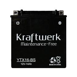 Мото аккумулятор Kraftwerk YTX16-BS 14Ah