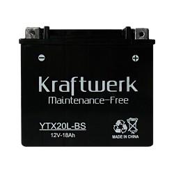 Мото аккумулятор Kraftwerk YTX20L-BS 18Ah
