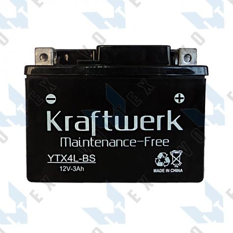 Мото аккумулятор Kraftwerk YTX4L-BS 3Ah