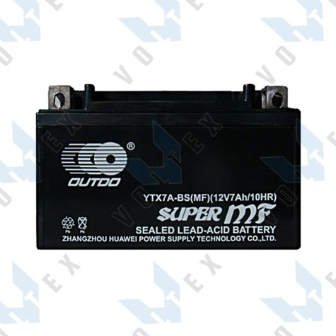 Мото аккумулятор Outdo YTX7A-BS 7 Ah