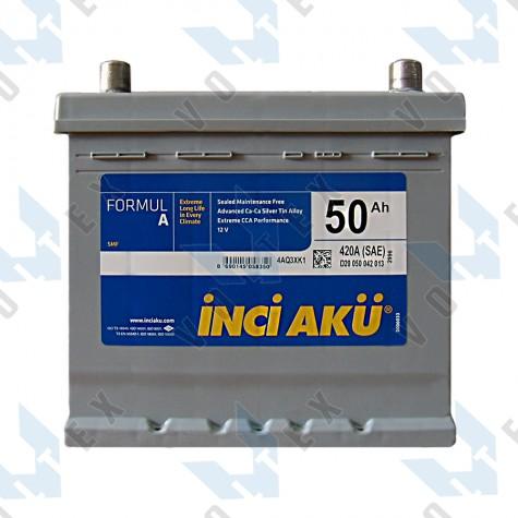 Аккумулятор Inci Aku Formula 50Ah JR+ 420A