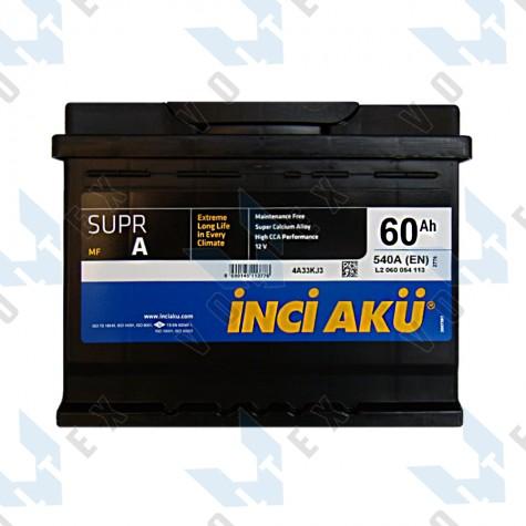 Аккумулятор Inci Aku Supra 60Ah L+ 540A