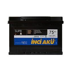 Аккумулятор Inci Aku Supra 75Ah R+ 700A