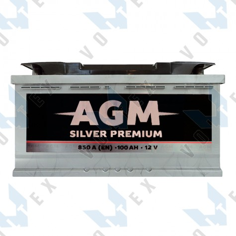 Аккумулятор AGM Silver Premium 100Ah R+ 850A