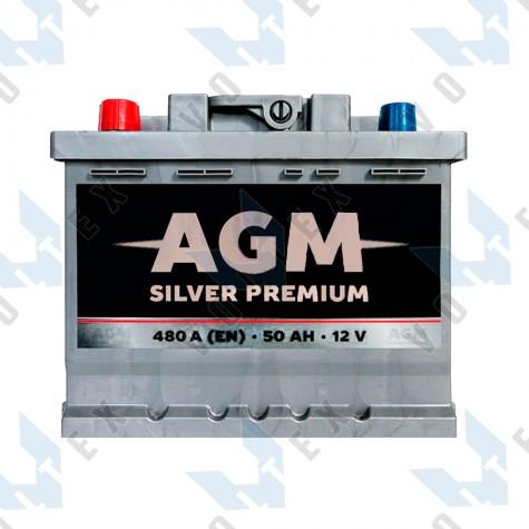 Аккумулятор AGM Silver Premium 50Ah L+ 480A