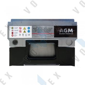 Аккумулятор AGM Silver Premium 60Ah L+ 600A