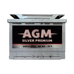 Аккумулятор AGM Silver Premium 65Ah R+ 640A