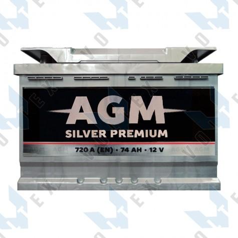Аккумулятор AGM Silver Premium 74Ah R+ 720A