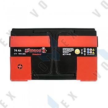 Аккумулятор A-Mega Standard 74Ah L+ 720A