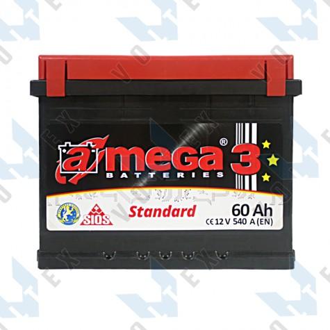Аккумулятор A-Mega Standard 60Ah R+ 540A