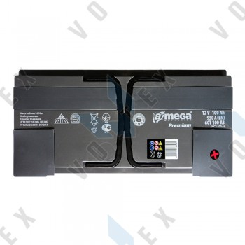 Аккумулятор A-Mega Premium 100Ah R+ 950A
