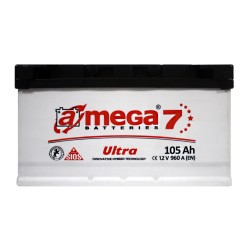 Аккумулятор A-Mega Ultra 105Ah R+ 960A