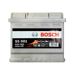 Аккумулятор Bosch S5 52Ah R+ 520A (низкобазовый)
