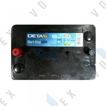 Аккумулятор Deta AGM Start-Stop 50Ah L+ 800A