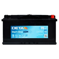 Аккумулятор Deta AGM Start-Stop 95Ah R+ 850A