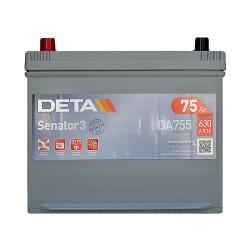 Аккумулятор Deta Senator 3 Carbon Boost Asia 75Ah JL+ 630A