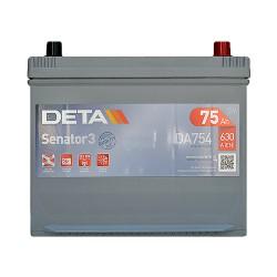 Аккумулятор Deta Senator 3 Carbon Boost Asia 75Ah JR+ 630A