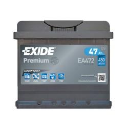 Аккумулятор Exide Premium 47Ah R+ 450A