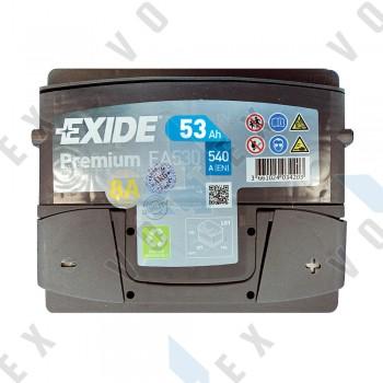 Аккумулятор Exide Premium 53Ah R+ 540A