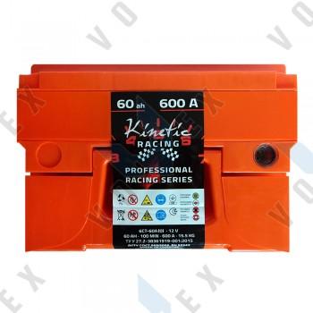 Аккумулятор Kinetic Racing 60Ah R+ 600A (низкобазовый)