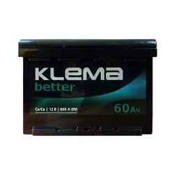 Аккумулятор Klema better 60Ah R+ 600A
