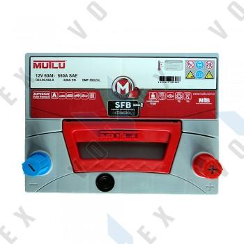 Аккумулятор Mutlu SFB technology 60Ah JR+ 520A