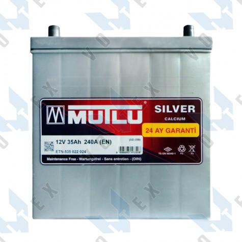 Аккумулятор Mutlu 35Ah JL+ 240A (тонкая клемма)