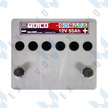Аккумулятор Mutlu 55Ah JR+ 500A (Hyundai)