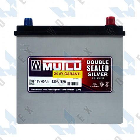Аккумулятор Mutlu 60Ah JR+ 520A