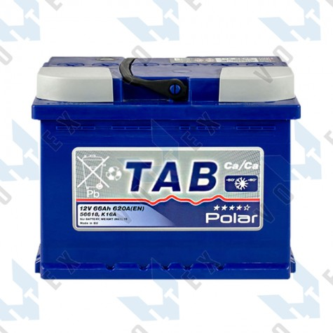 Аккумулятор Tab Polar Blue 66Ah L+ 620A