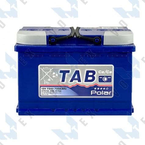 Аккумулятор Tab Polar Blue 75Ah R+ 750A
