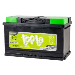 Аккумулятор Topla Start-Stop AGM 80Ah R+ 800A