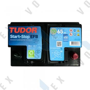 Аккумулятор Tudor Start-Stop EFB 65Ah R+ 650A