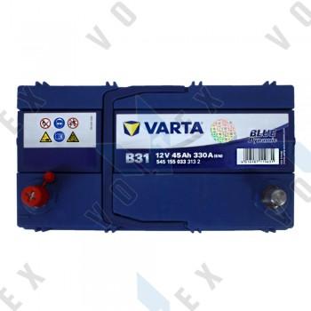 Аккумулятор Varta Blue Dynamic 45Ah JL+ 330A (тонкая клемма)