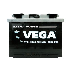 Аккумулятор Vega 60Ah R+ 480A