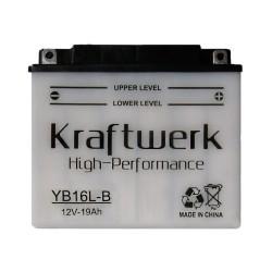 Мото аккумулятор Kraftwerk YB16L-B 19Ah
