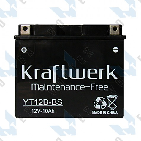 Мото аккумулятор Kraftwerk YT12B-BS 10Ah