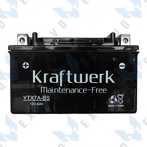 Мото аккумулятор Kraftwerk YTX7A-BS 6Ah