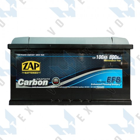 Аккумулятор Zap Start-Stop EFB Graphite Carbon 100Ah R+ 800A