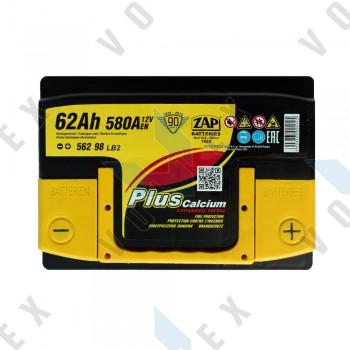 Аккумулятор Zap Plus Calcium 62Ah R+ 580A