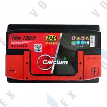 Аккумулятор Zap Plus Calcium 75Ah R+ 720A