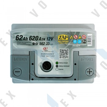 Аккумулятор Zap Silver Premium 62Ah R+ 620A
