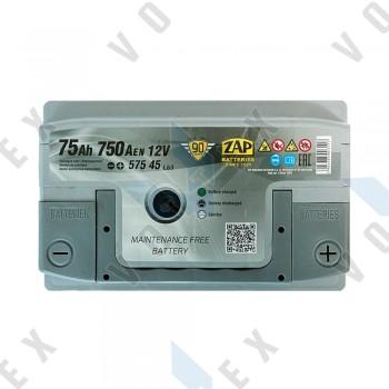 Аккумулятор Zap Silver Premium 75Ah R+ 750A