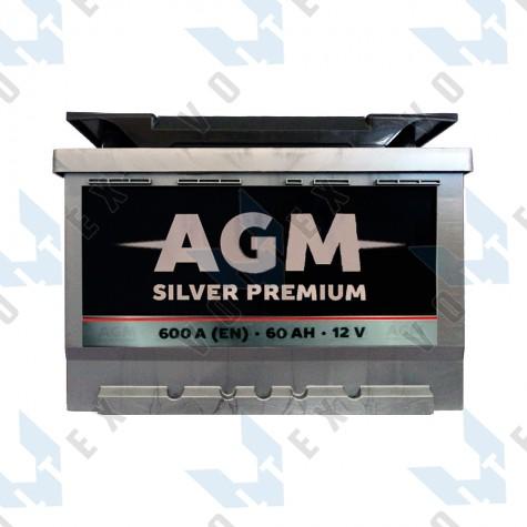 Аккумулятор AGM Silver Premium 60Ah R+ 600A