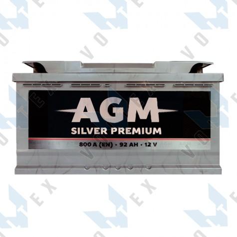 Аккумулятор AGM Silver Premium 92Ah R+ 800A