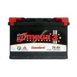 Аккумулятор A-Mega Standard 74Ah R+ 720A